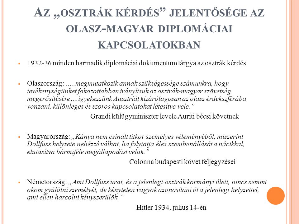 A Z A NSCHLUSS - KÍSÉRLET  1934.