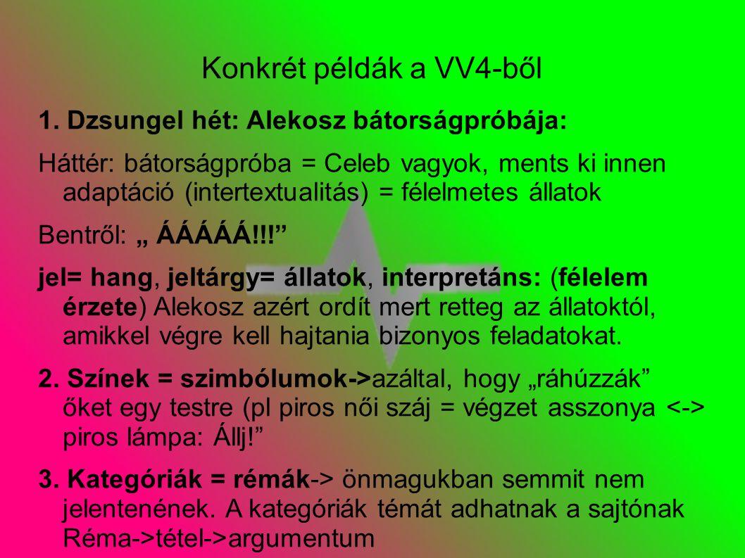 Konkrét példák a VV4-ből 1.