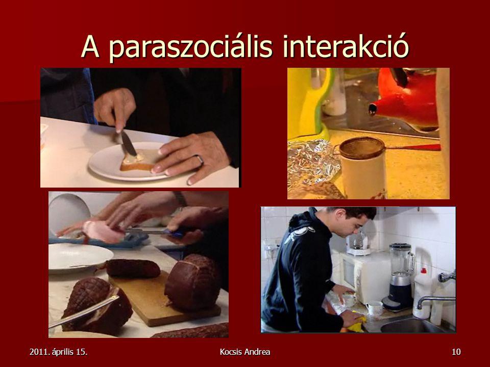 2011. április 15.Kocsis Andrea10 A paraszociális interakció
