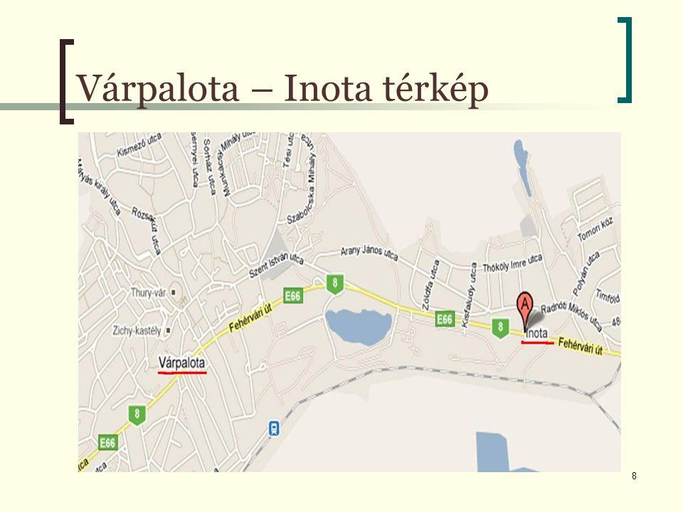 8 Várpalota – Inota térkép
