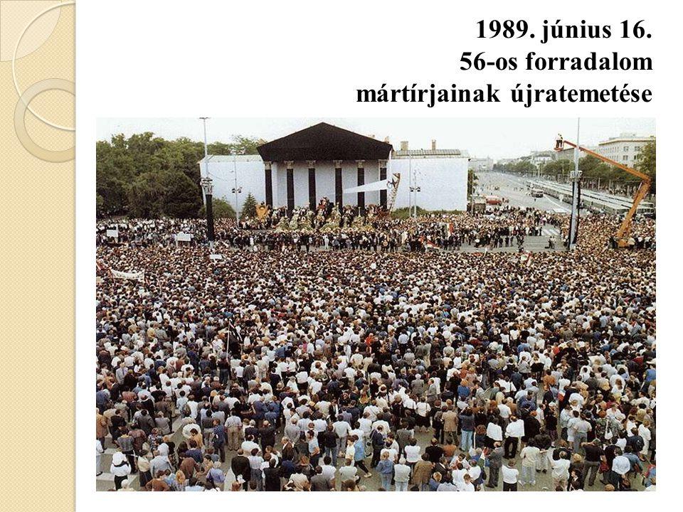 1989. június 16. 56-os forradalom mártírjainak újratemetése