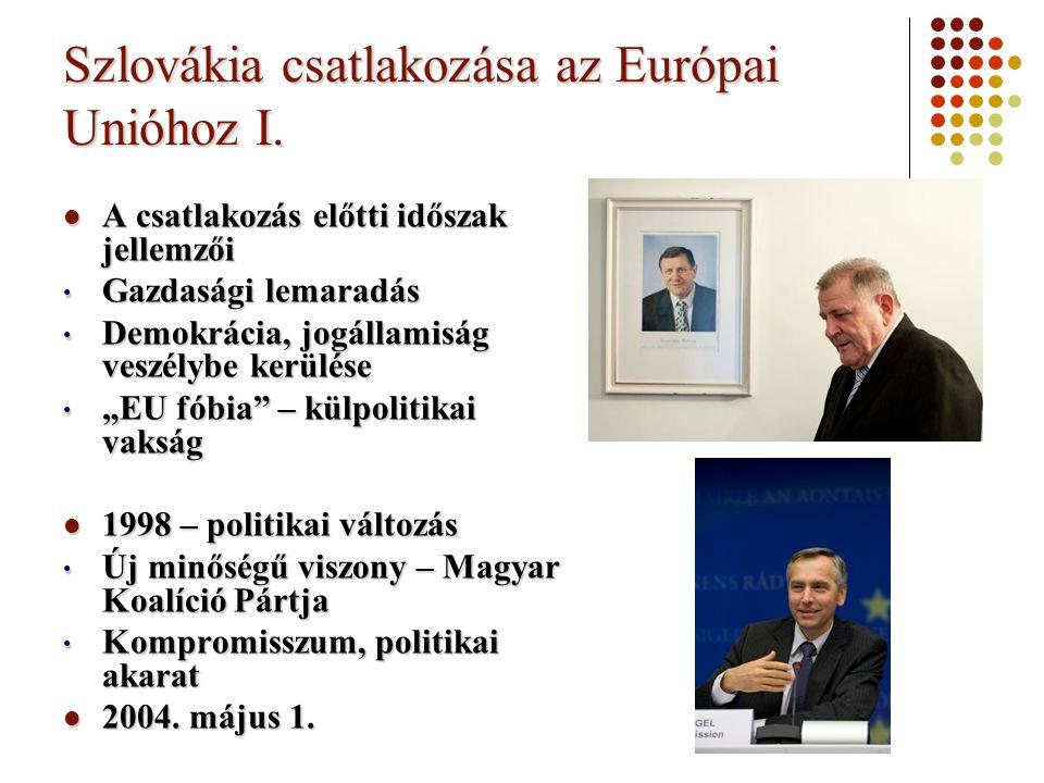 Szlovákia csatlakozása az Európai Unióhoz I.