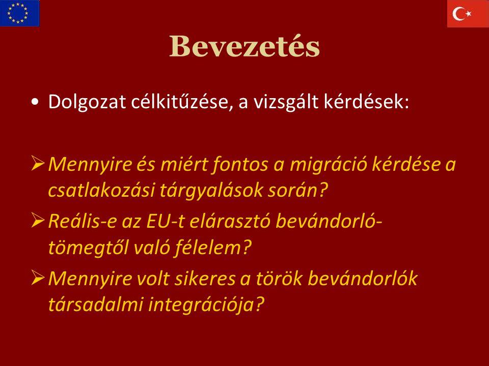 Bevezetés Dolgozat célkitűzése, a vizsgált kérdések:  Mennyire és miért fontos a migráció kérdése a csatlakozási tárgyalások során.