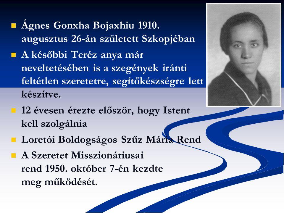 Ágnes Gonxha Bojaxhiu 1910.