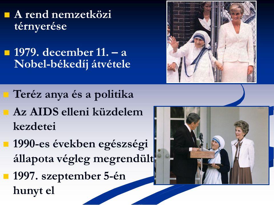 A rend nemzetközi térnyerése 1979.december 11.