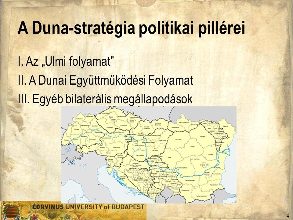 """A Duna-stratégia politikai pillérei I. Az """"Ulmi folyamat"""" II. A Dunai Együttműködési Folyamat III. Egyéb bilaterális megállapodások 4"""