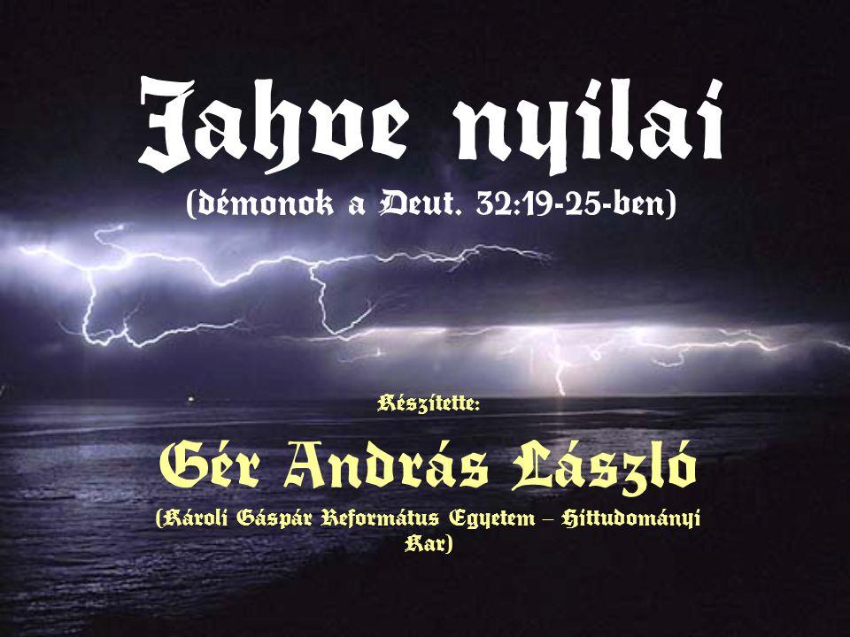 Jahve nyilai (démonok a Deut.