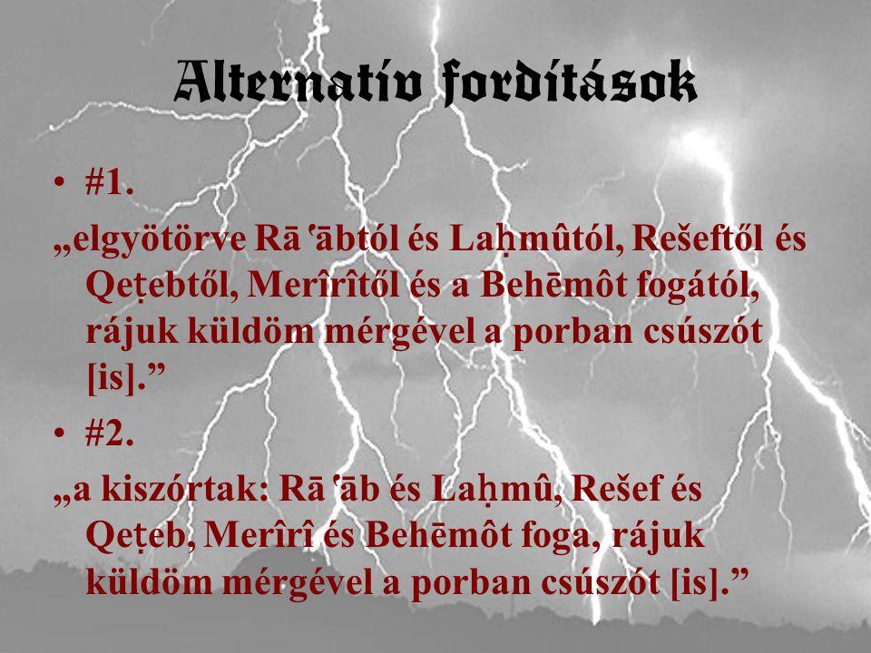 Alternatív fordítások #1.