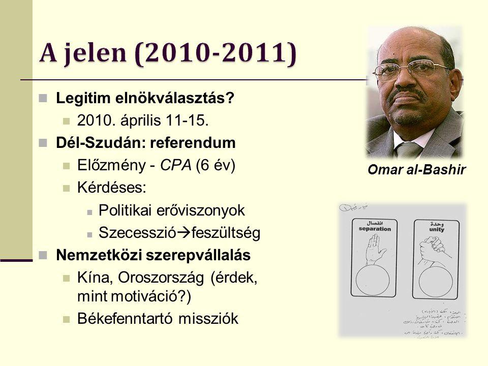 AMIS (Afrikai Unió Szudáni Missziója) 2004-2007 UNAMID (ENSZ és AU hibrid művelete) 2007-napjaink UNMIS (ENSZ Missziója Szudánba) 2005-napjaink Békefenntartó missziók