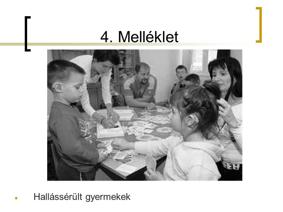 4. Melléklet  Hallássérült gyermekek