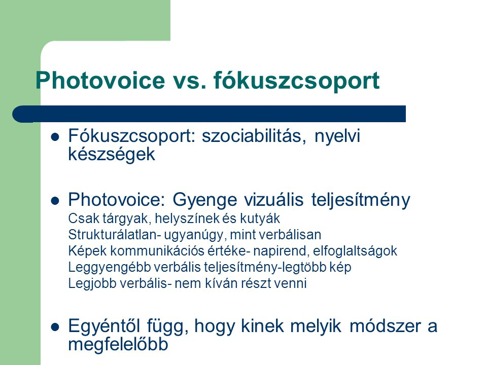 Photovoice vs.