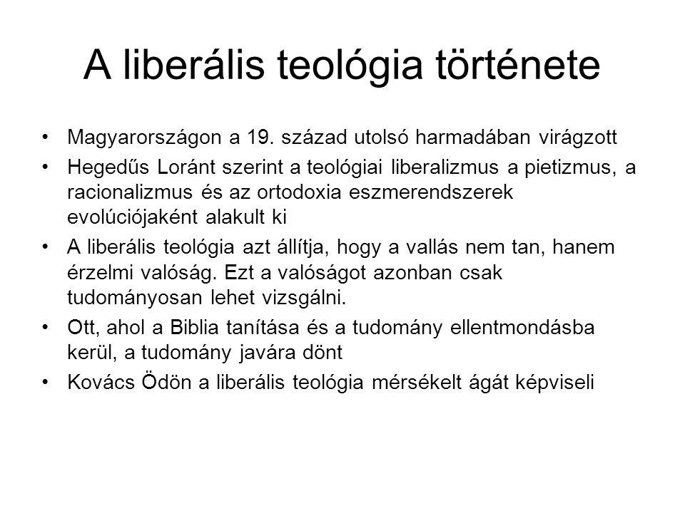 A vallástudomány és a teológia viszonya Kovács Ödön értelmezésében A hagyományos teológia szerinte tudománytalan, nevetséges.