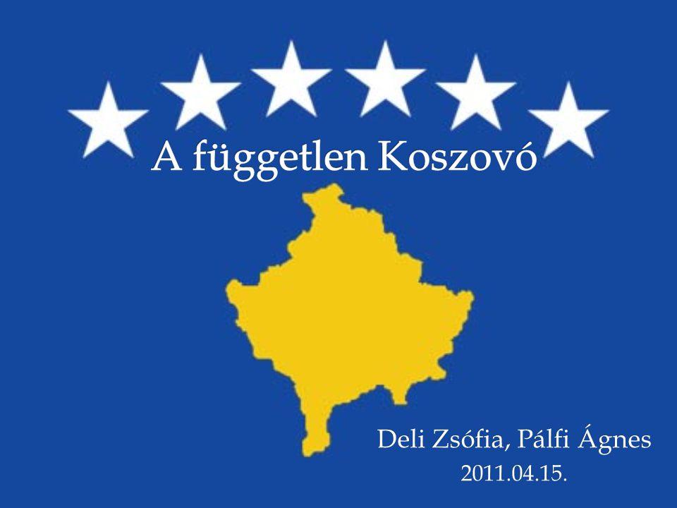   Koszovó helye Európában  Történelmi áttekintés  Függetlenedéssel kapcsolatos nemzetközi jogi kérdések  A koszovói helyzet nemzetközi megítélése  A függetlenség kikiáltása óta eltelt három év, Koszovó belső problémái Vázlat 15.04.20112 Deli Zsófia, Pálfi Ágnes: A független Koszovó