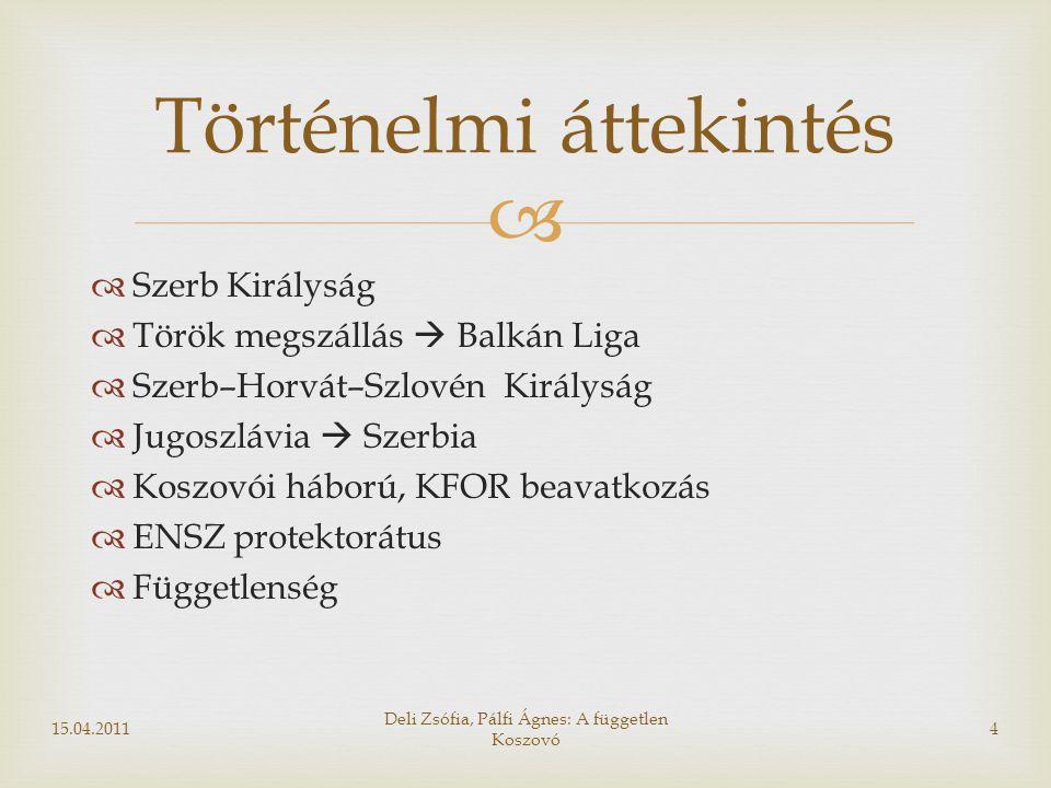   Politikai vezetők=alvilági vezetők, háborús bűnösök  Drenica-csoport: szervkereskedelem  Thaqi  Berisha  Haliti (fegyver és kábítószer csempészet)  Szervezett bűnözés: albán, cseh, macedón, bolgár kapcsolatok Marty-jelentés 15.04.201115 Deli Zsófia, Pálfi Ágnes: A független Koszovó