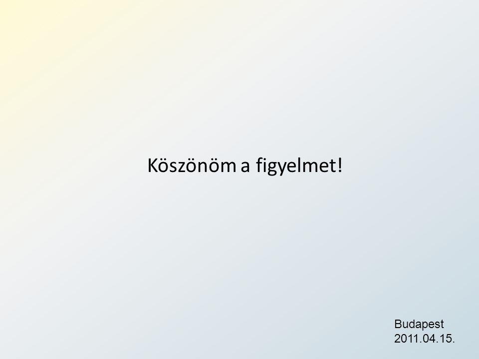 Köszönöm a figyelmet! Budapest 2011.04.15.