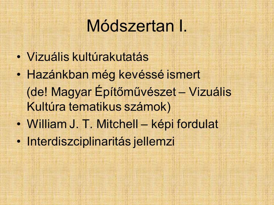 Módszertan I. Vizuális kultúrakutatás Hazánkban még kevéssé ismert (de.