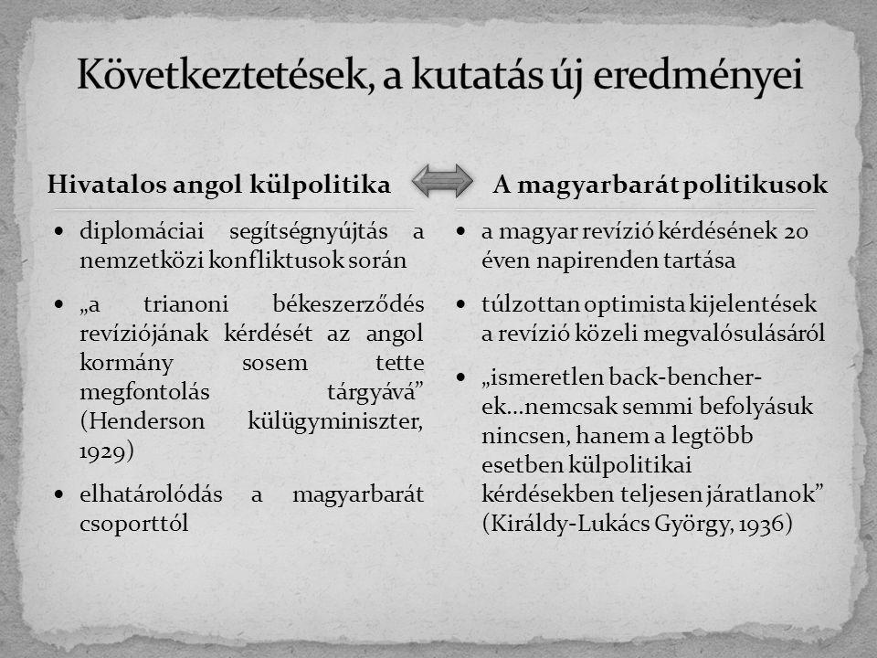 További aktív magyarbarát politikusok vizsgálata (pl.