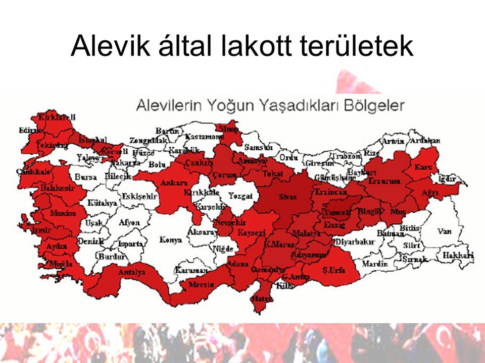 Alevik által lakott területek