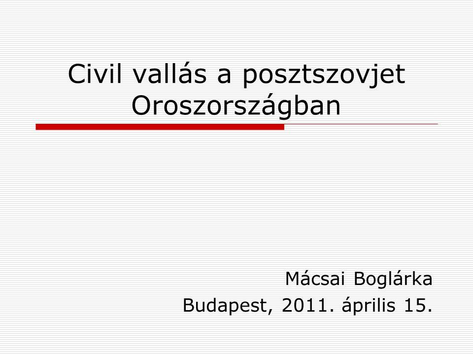 Civil vallás a posztszovjet Oroszországban Mácsai Boglárka Budapest, 2011. április 15.
