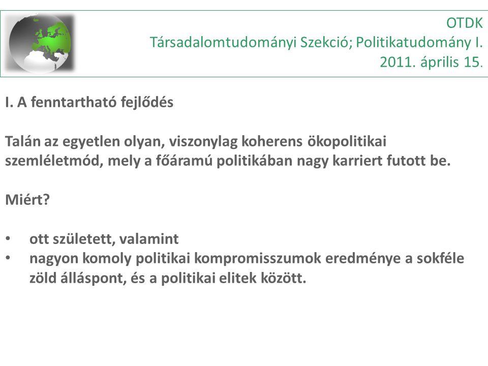 OTDK Társadalomtudományi Szekció; Politikatudomány I.