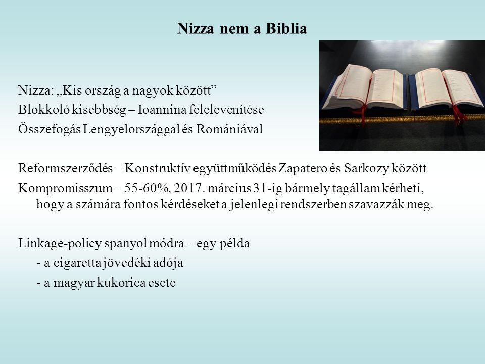 """Nizza nem a Biblia Nizza: """"Kis ország a nagyok között"""" Blokkoló kisebbség – Ioannina felelevenítése Összefogás Lengyelországgal és Romániával Reformsz"""