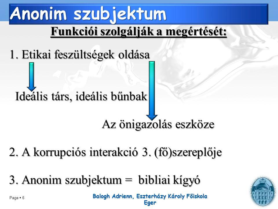 Page  17 I. Demográfiai háttér Balogh Adrienn, Eszterházy Károly Főiskola