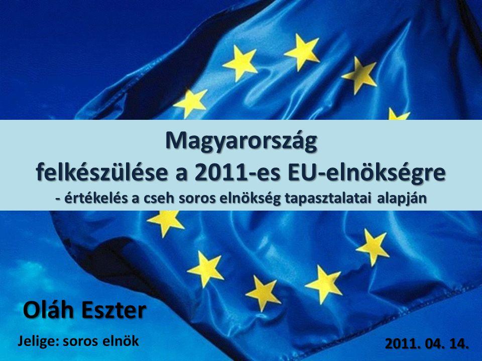 Magyarország felkészülése a 2011-es EU-elnökségre - értékelés a cseh soros elnökség tapasztalatai alapján Oláh Eszter 2011.