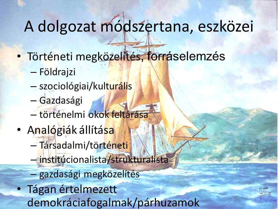 Társadalmi/történeti vonatkozások Történelmi események Földrajzi sajátosságok Kulturális és szociológiai háttér Szerződéselméleti párhuzam