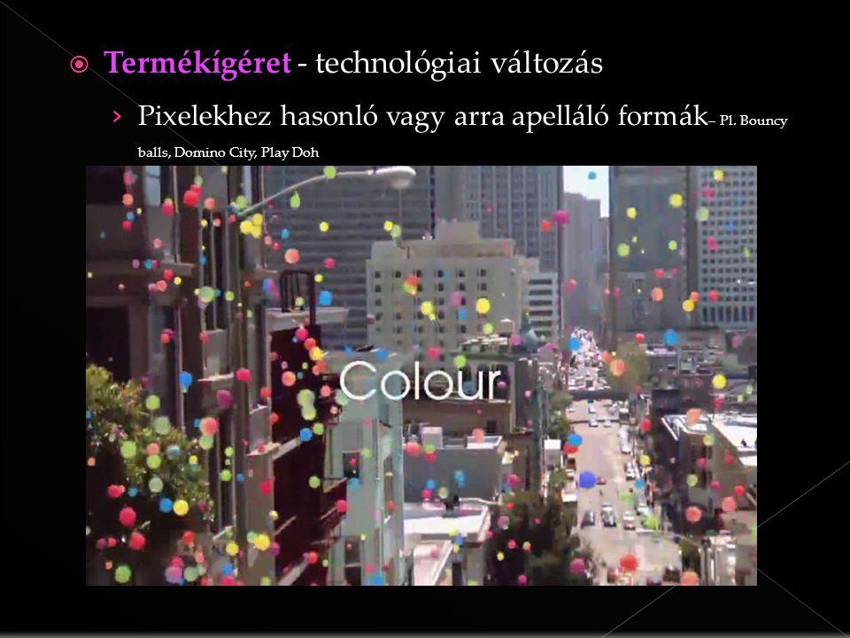  Termékígérettechnológiai változás  Termékígéret - technológiai változás › Pixelekhez hasonló vagy arra apelláló formák – Pl.