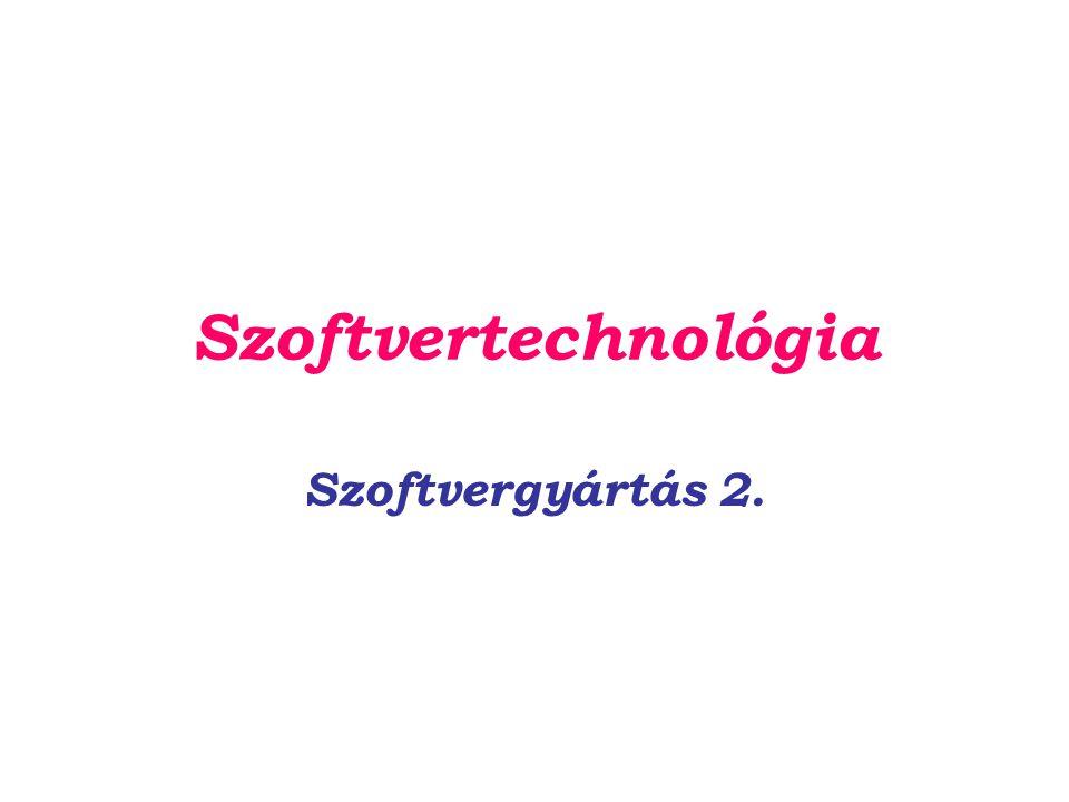 Szoftvertechnológia Szoftvergyártás 2.