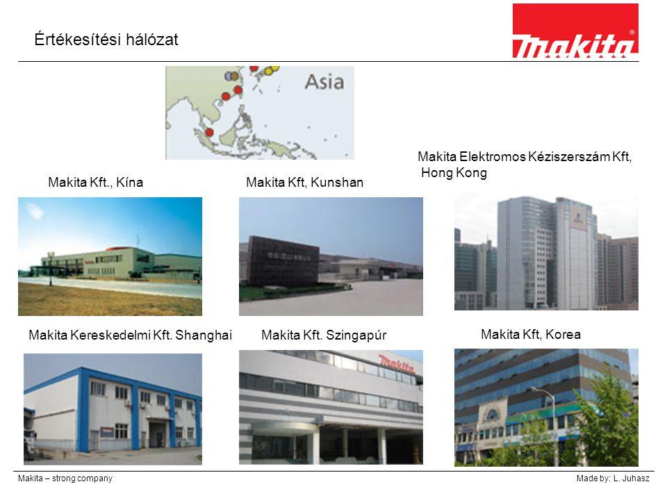Értékesítési hálózat Makita – strong companyMade by: L. Juhasz Makita Kft., KínaMakita Kft, Kunshan Makita Elektromos Kéziszerszám Kft, Hong Kong Maki