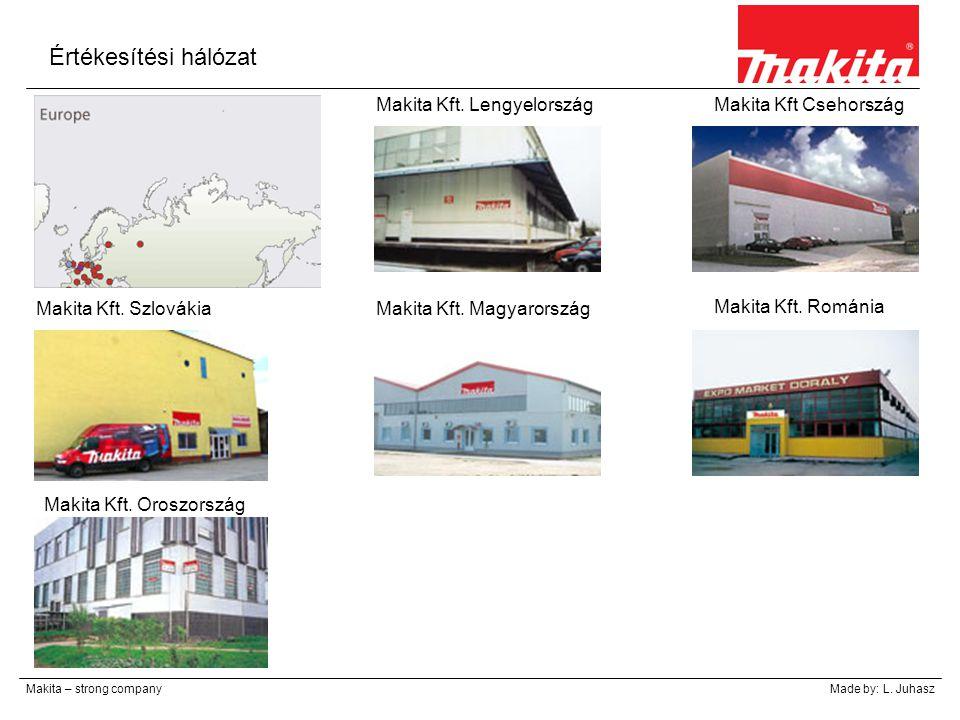 Értékesítési hálózat Makita – strong companyMade by: L. Juhasz Makita Kft. Lengyelország Makita Kft. Románia Makita Kft Csehország Makita Kft. Szlovák