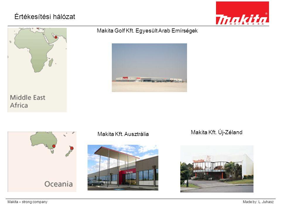 Értékesítési hálózat Makita – strong companyMade by: L. Juhasz Makita Golf Kft. Egyesült Arab Emírségek Makita Kft. Ausztrália Makita Kft. Új-Zéland