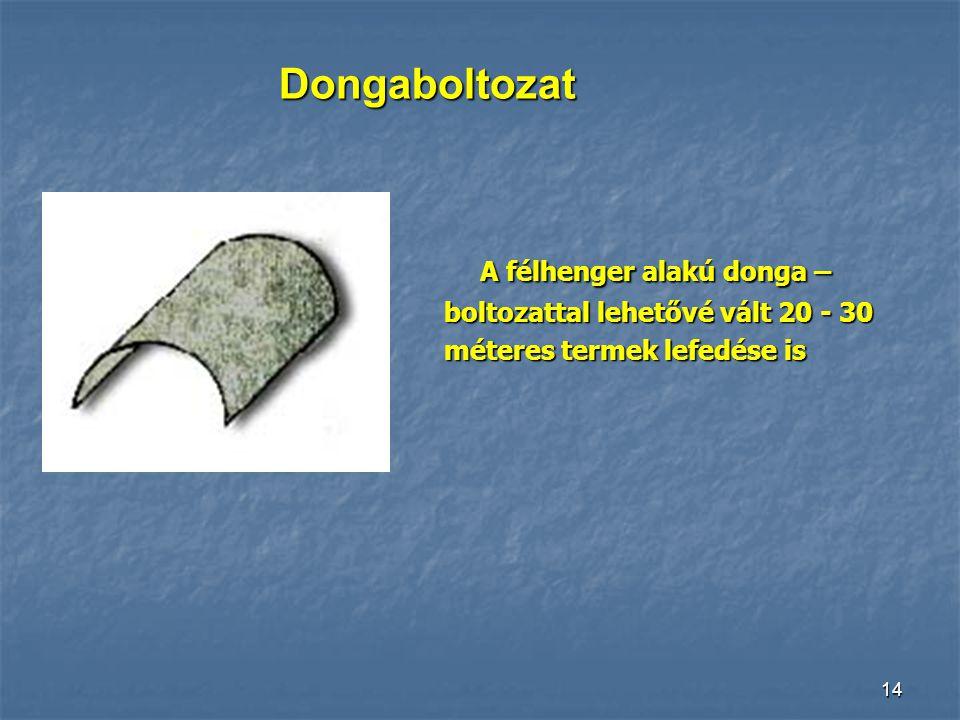 13 Archivolt A római téralakítás a vízszintes kőgerendák helyett félköríves boltíveket alkalmazott, ezzel már nagy fesztávolságokat tudtak áthidalni