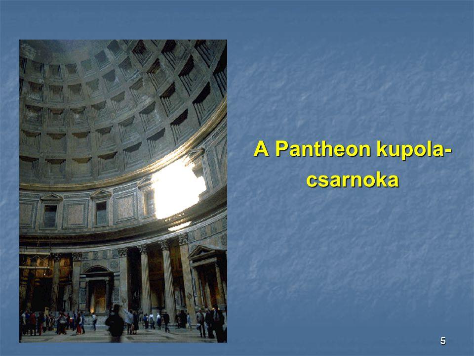 4 A Pantheon bejárati oldala a fedett oszlopcsarnokkal