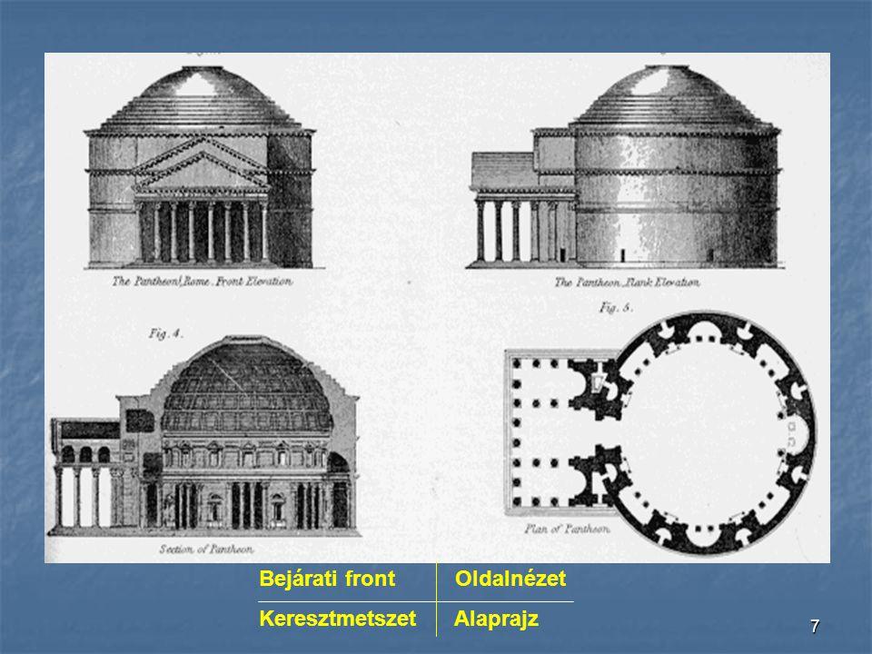 17 Kupola A római építészet legkiemel- kedőbb teljesítménye a kupola.