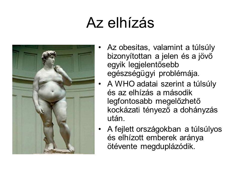 Az elhízás Az obesitas, valamint a túlsúly bizonyítottan a jelen és a jövő egyik legjelentősebb egészségügyi problémája. A WHO adatai szerint a túlsúl