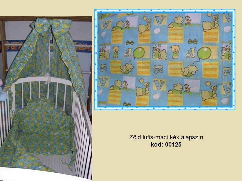 Zöld lufis-maci kék alapszín kód: 00125