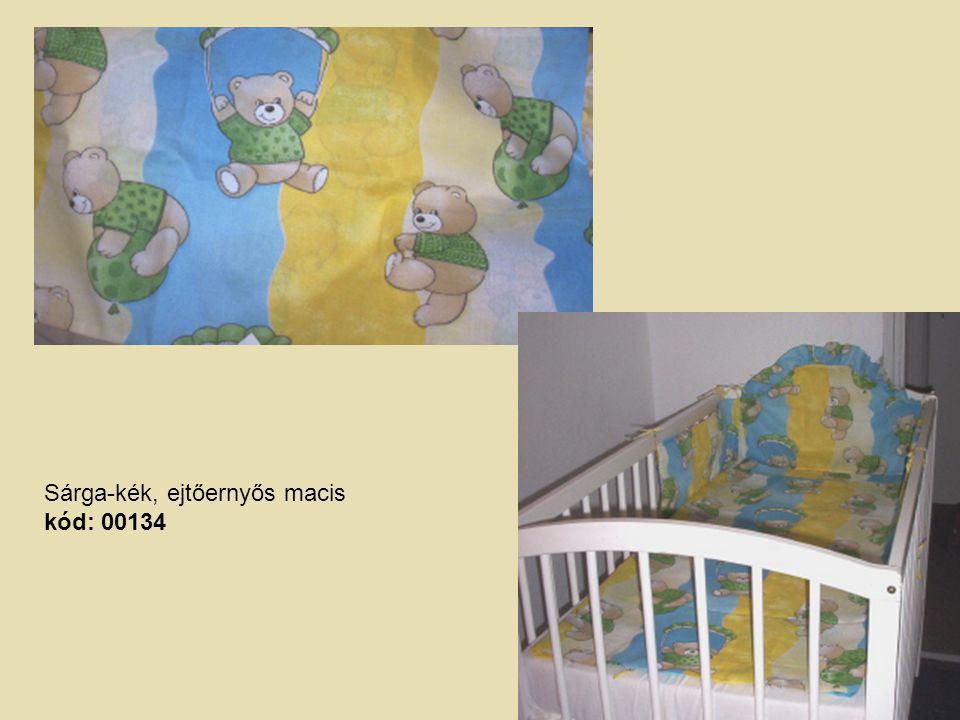 Sárga-kék, ejtőernyős macis kód: 00134