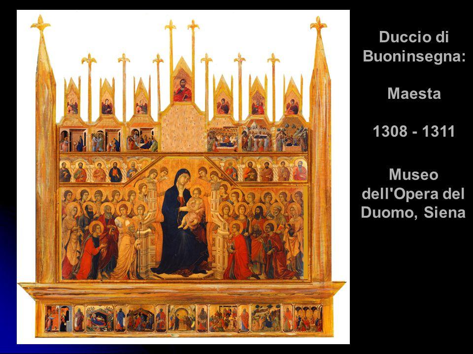 Duccio di Buoninsegna: Maesta 1308 - 1311 Museo dell'Opera del Duomo, Siena