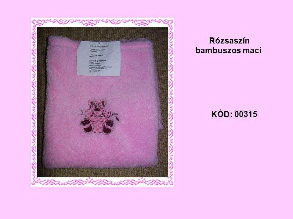 KÓD: 00315 Rózsaszín bambuszos maci