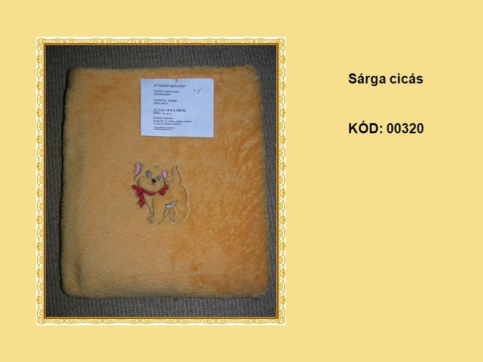 KÓD: 00320 Sárga cicás