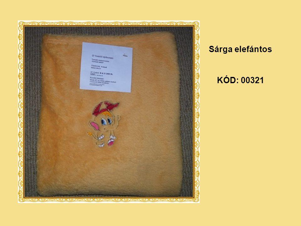 KÓD: 00321 Sárga elefántos