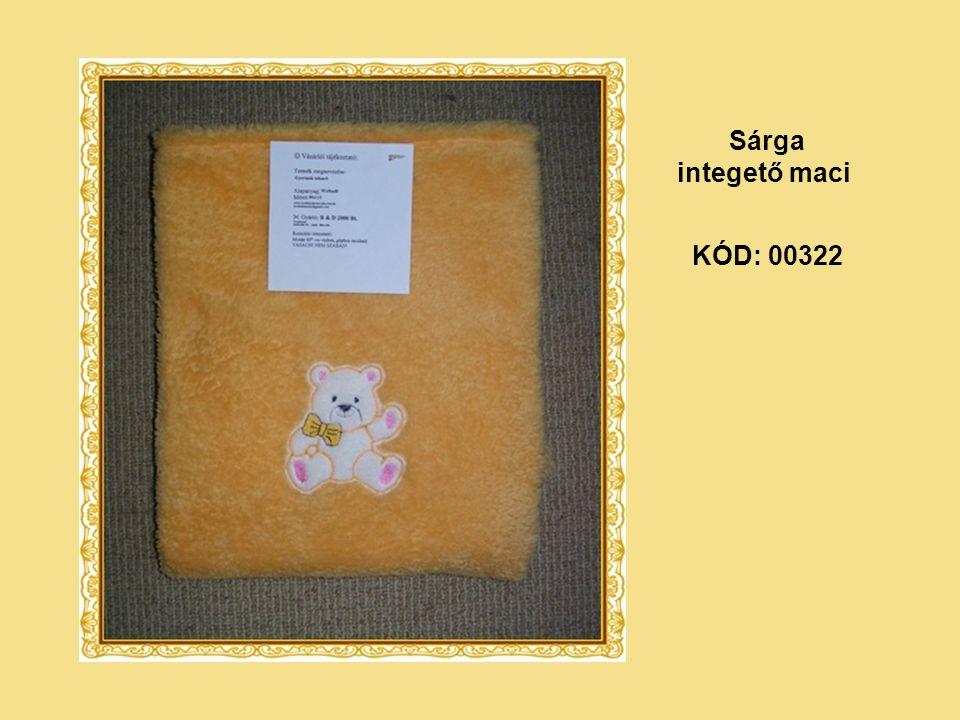 KÓD: 00322 Sárga integető maci