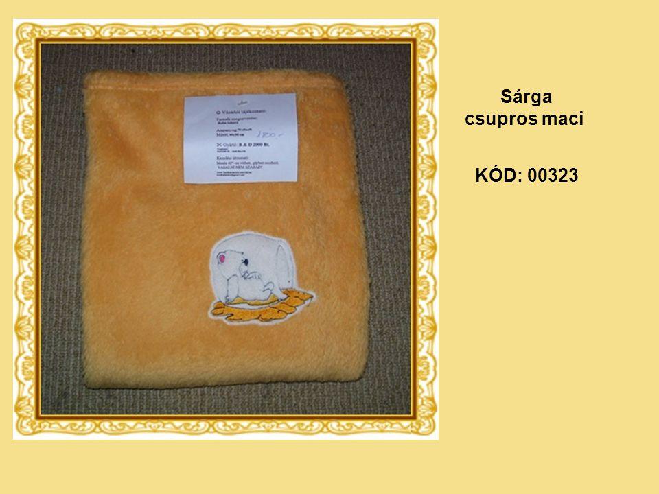 KÓD: 00323 Sárga csupros maci