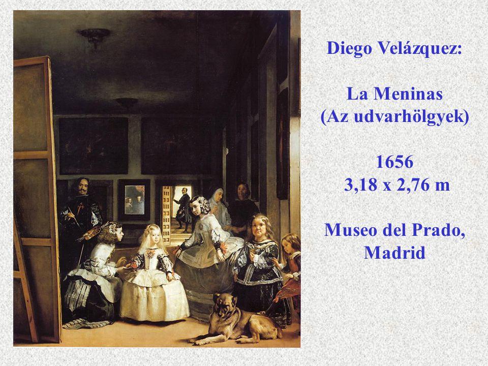 Diego Velázquez: La Meninas (Az udvarhölgyek) 1656 3,18 x 2,76 m Museo del Prado, Madrid