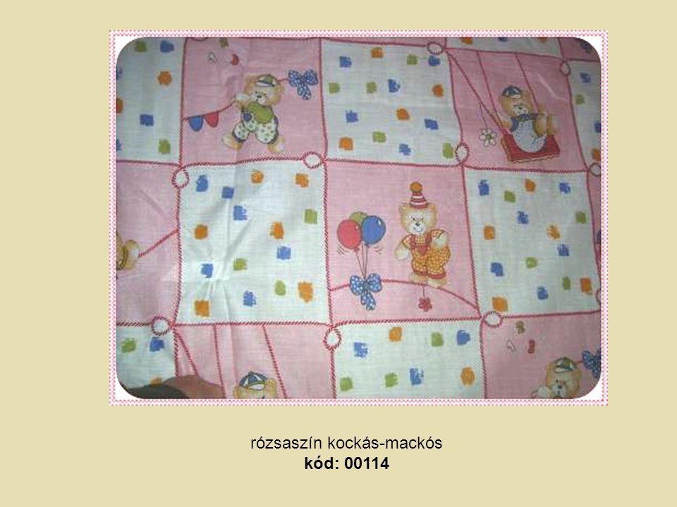 rózsaszín kockás-mackós kód: 00114