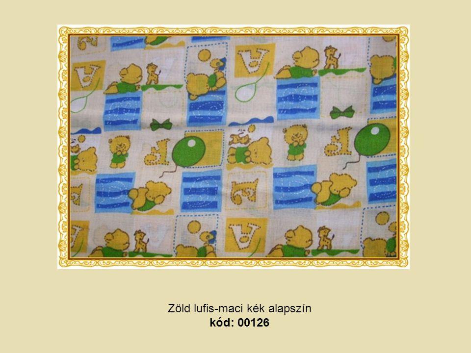 Zöld lufis-maci kék alapszín kód: 00126