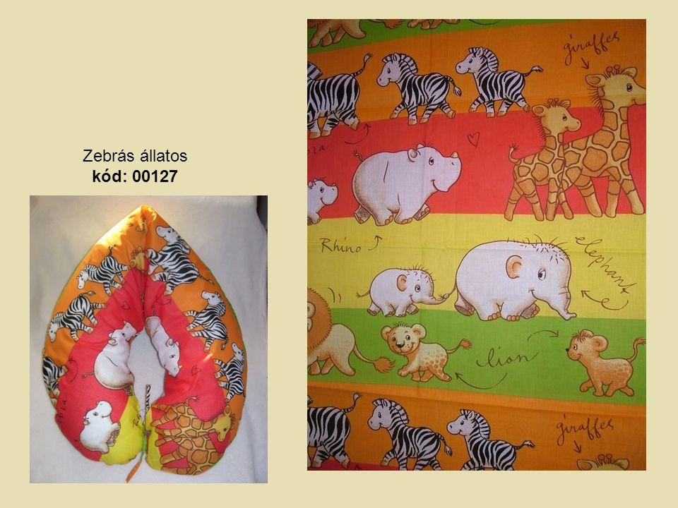 Zebrás állatos kód: 00127