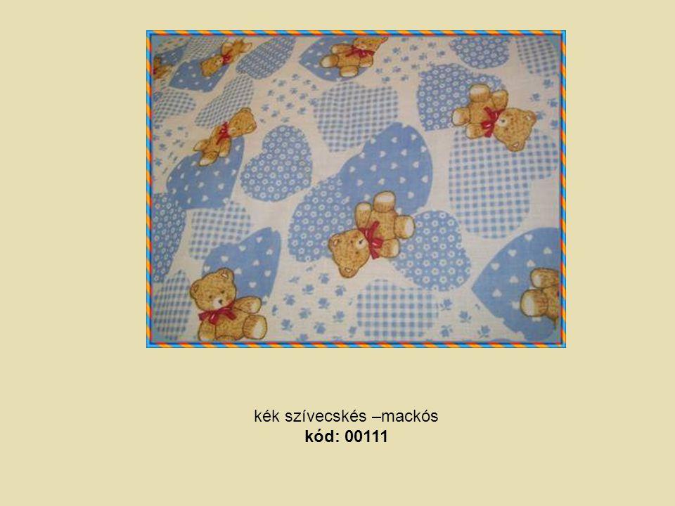 kék szívecskés –mackós kód: 00111